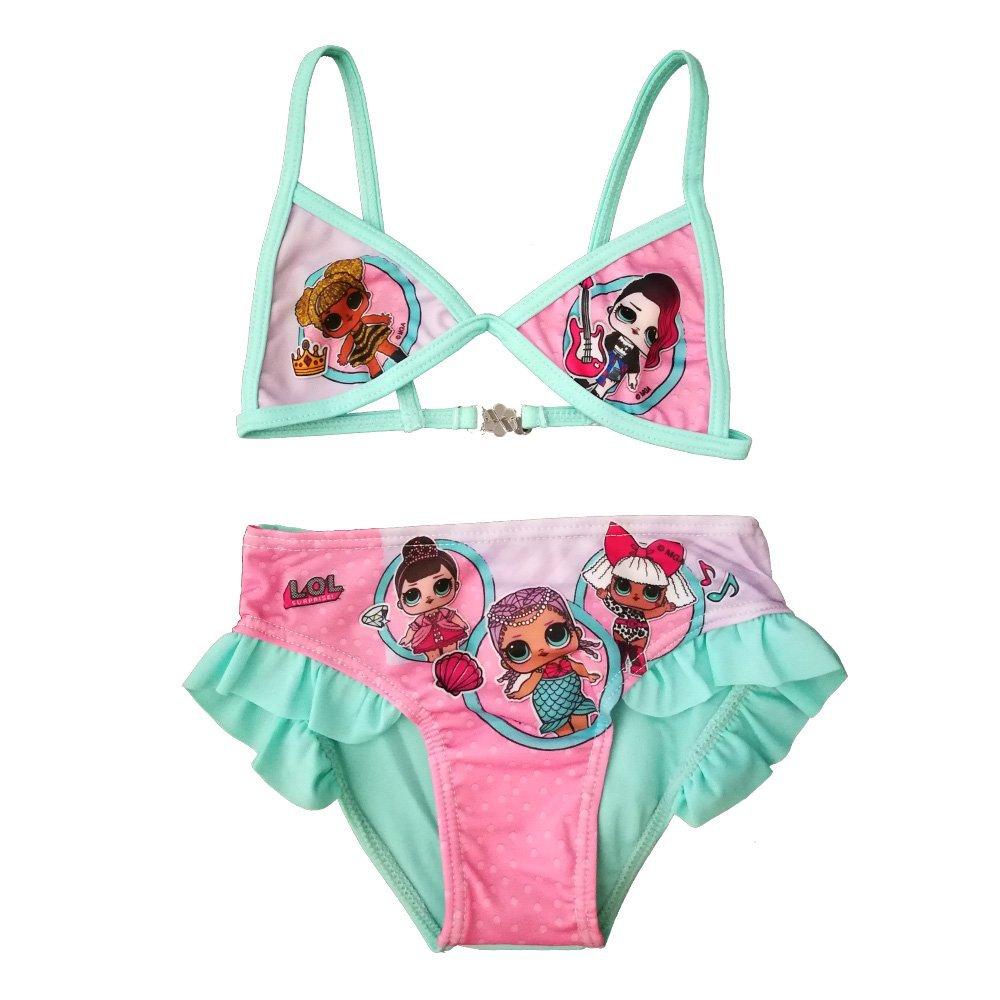 Bikini costume da bimba per bambina mare piscina LOL SURPRISE 5 6 7 8 9 10 anni